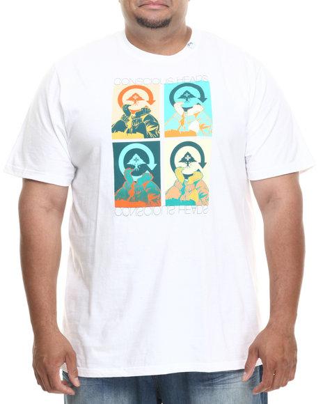 Lrg - Men White Conscious Heads Tee (B&T)