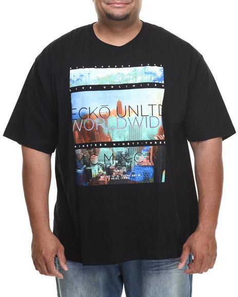 Ecko Black Highline T-Shirt (Big & Tall)