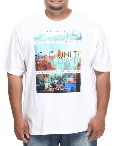 Ecko White Highline T-Shirt (Big & Tall)
