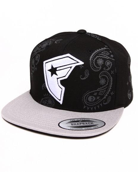 Famous Stars & Straps Men Paisley Boh Snapback Hat Black