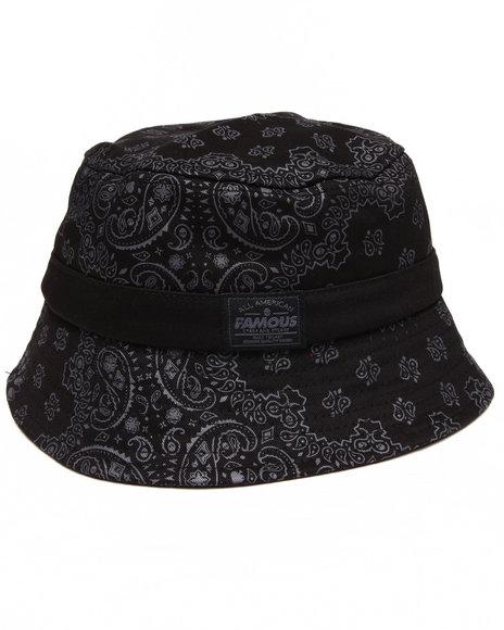 Famous Stars & Straps Paisley Bucket Hat Black