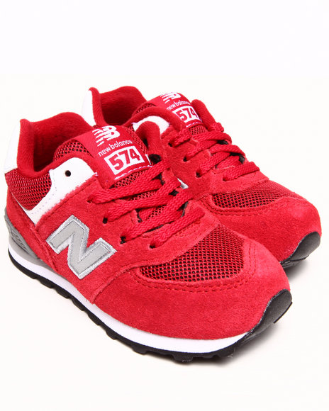 New Balance Boys Red 574 Varsity Sneakers (5-10)