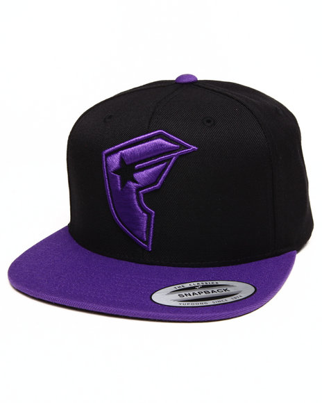Famous Stars & Straps Official Boh 2 Tone Snapback Hat Black