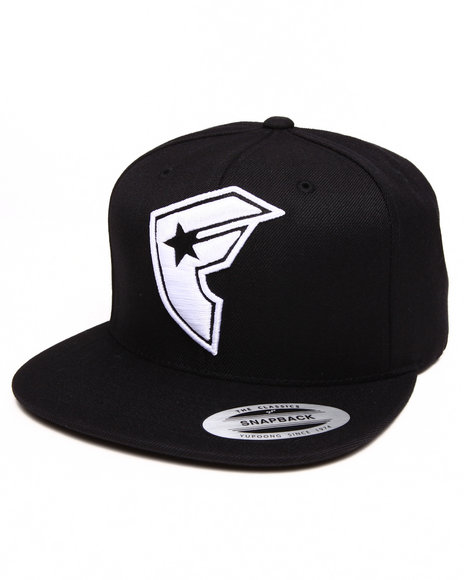 Famous Stars & Straps Official Boh Snapback Hat Black