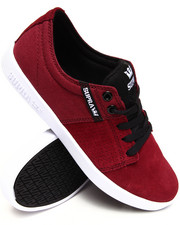 Footwear - Stacks 2 Burgundy Suede/Canvas Sneakers