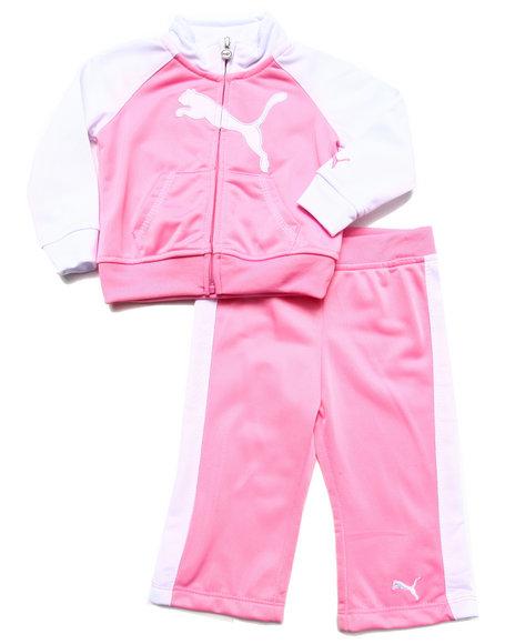 Puma Girls Pink 2 Pc Tricot Set (Infant)
