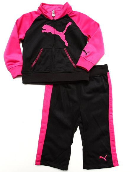 Puma Girls Black 2 Pc Tricot Set (Infant)