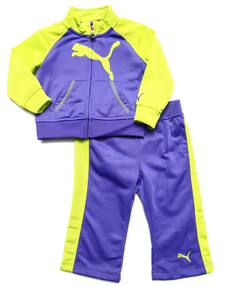 Puma - Girls Purple 2 Pc Tricot Set (Infant)