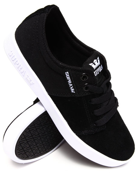 Supra Black,White Stacks 2 Suede/Canvas Sneakers