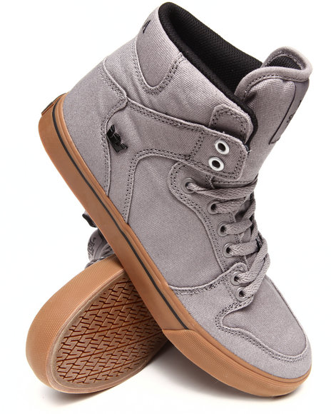 Supra - Men Grey Vaider Grey Canvas Sneakers