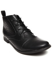 Women - Vegan Leather Cutout Designs Oxford Bootie