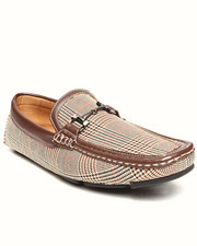 Footwear - Checkerd Pattern Buckle driving loafer