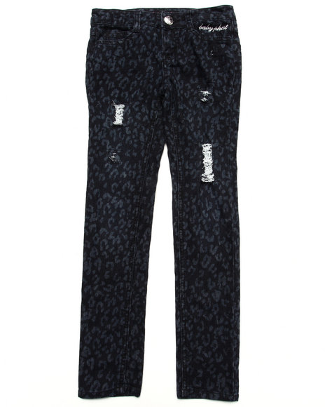 Baby Phat - Girls Black Printed Twill Emb Pant (7-16)