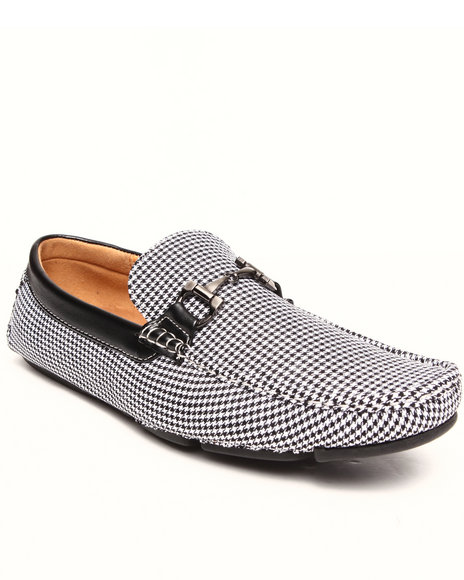 Buyers Picks - Men Multi Houndstooth Buckle Loafer