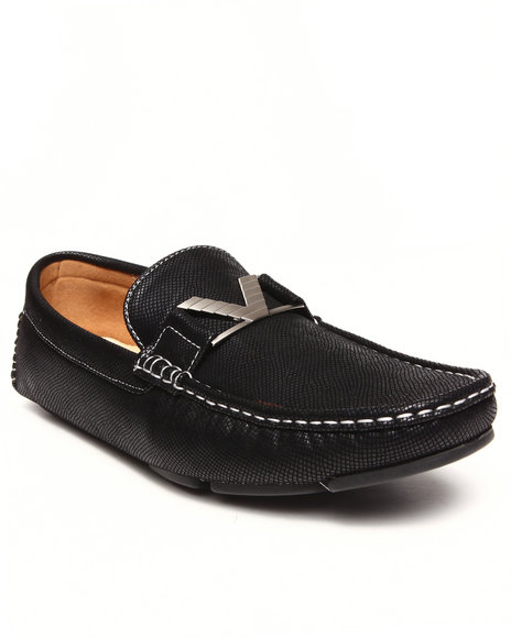Buyers Picks - Men Black Buckle Driving Loafer