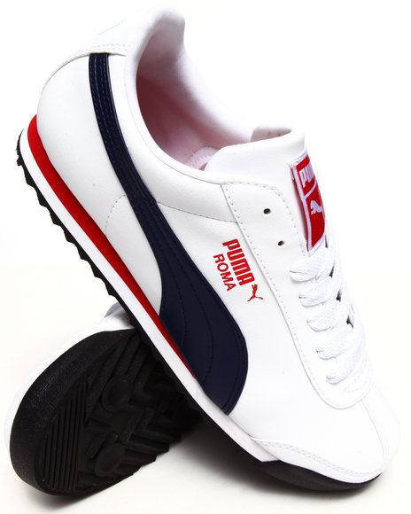 Puma Navy,Red,White Roma Basic Sneakers