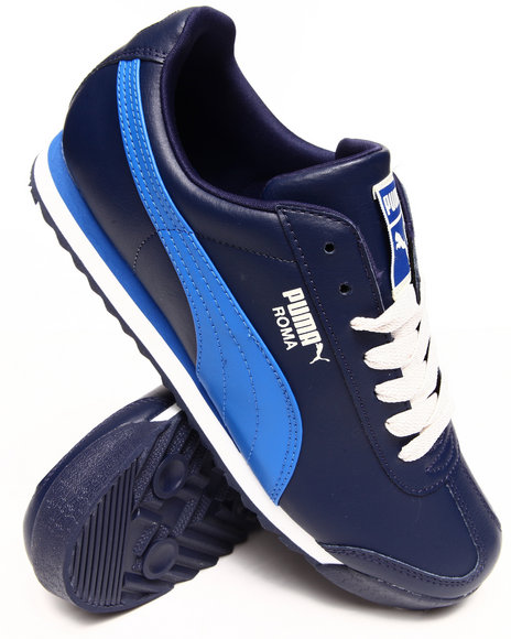 Puma Blue,Navy Roma Basic Sneakers
