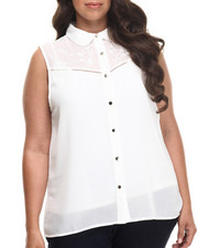 Fashion Lab - Dude Ranch Sleeveless top (plus)