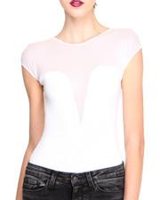 Women - Bodysuit w/ Mesh Insert