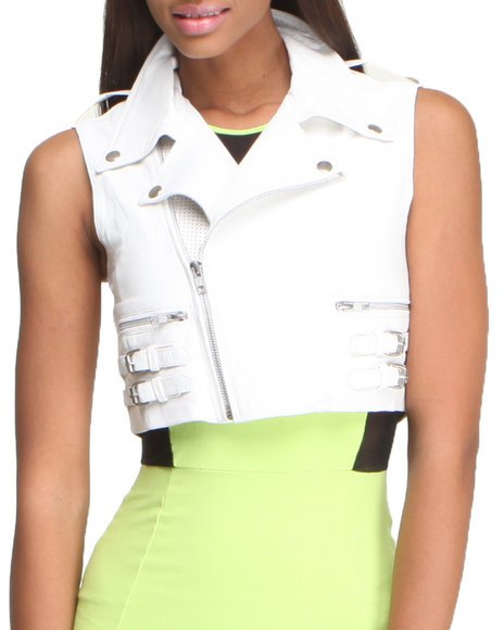 This Is A Love Song - Women White Vendetta Vest - $175.99