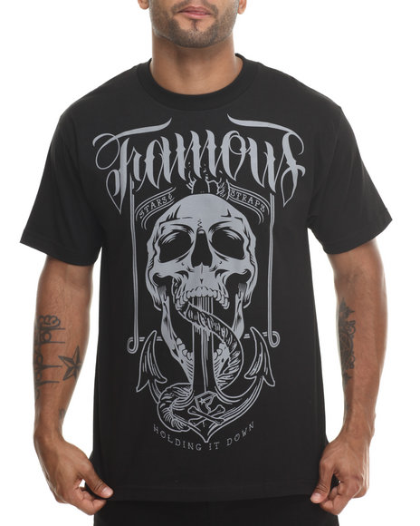 Famous Stars & Straps Black Holding It Down Tee