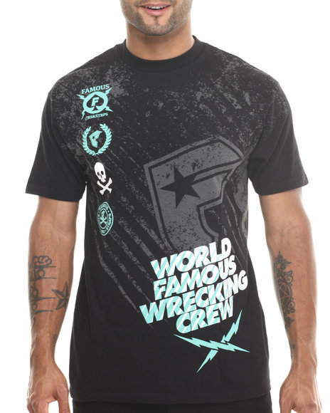 Famous Stars & Straps Black World Famous Rally Tee