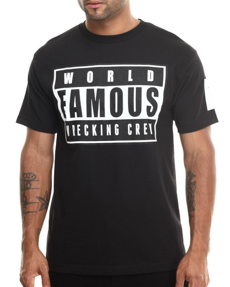 Famous Stars & Straps Black Explicit World Famous Tee