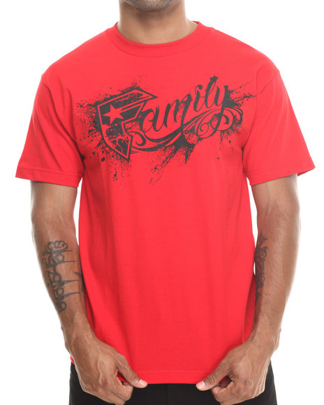 Famous Stars & Straps Red Messy Family Tee
