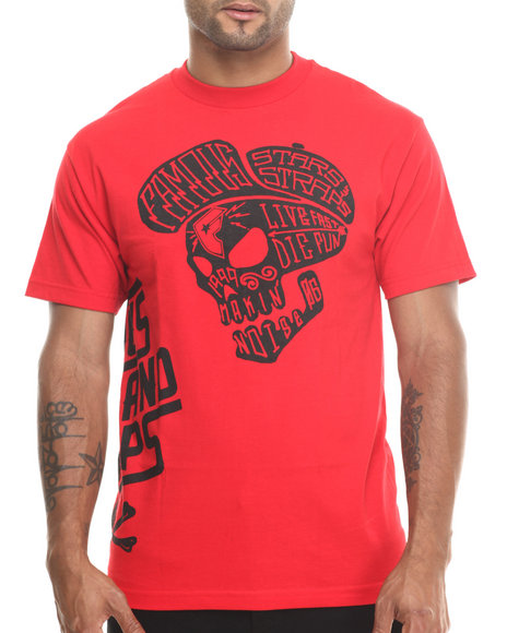 Famous Stars & Straps Red In Yo Face Tee