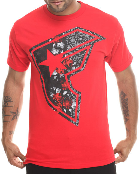 Famous Stars & Straps Red Dark Reign Tee