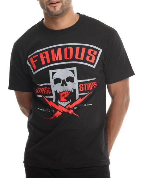 Famous Stars & Straps - Men Black Skull Box Tee