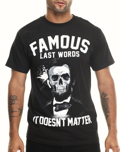 Famous Stars & Straps Black Last Words Tee