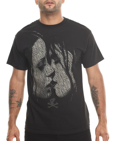 Famous Stars & Straps Black The Kiss Tee
