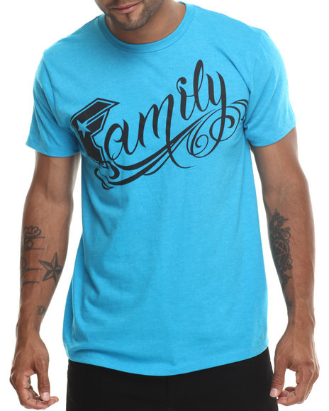 Famous Stars & Straps - Men Teal Family Tee