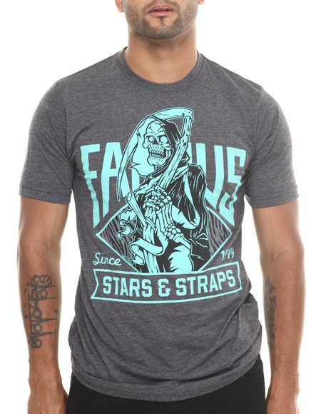 Famous Stars & Straps Grey Death Box Tee