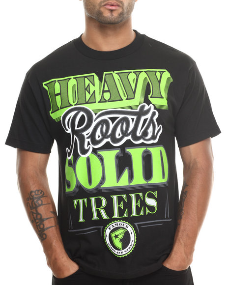 Famous Stars & Straps Black Heavy Roots Tee