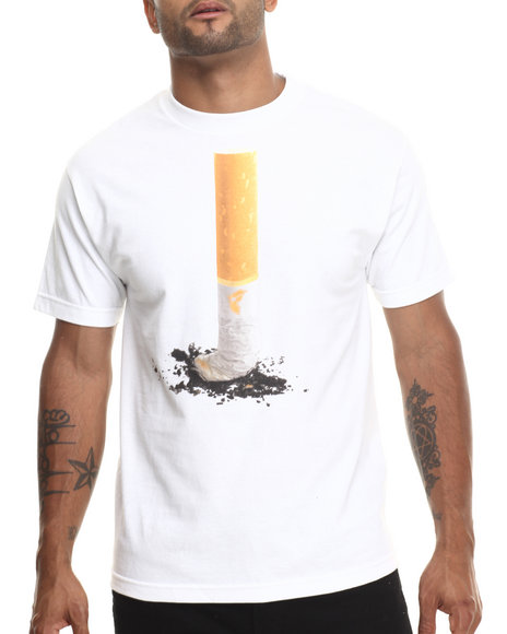 Famous Stars & Straps - Men White Yela Wolf Ashed Tee - $12.99