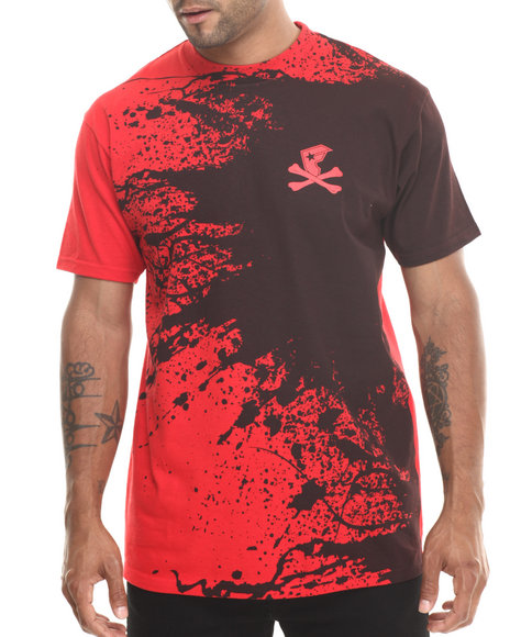 Famous Stars & Straps Red Cross Bone Splat Tee