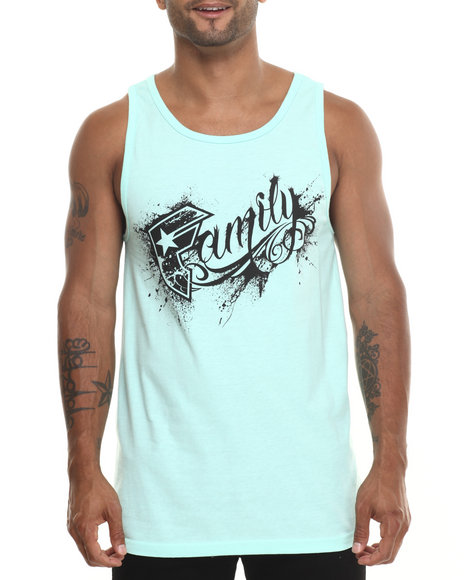 Famous Stars & Straps Green Messy Family Tank