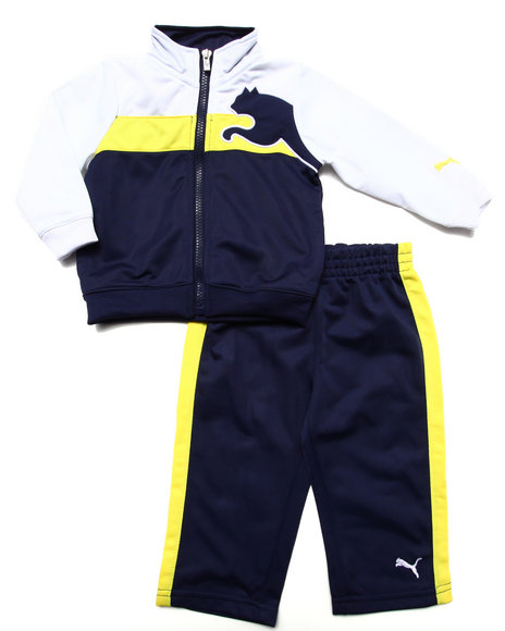 Puma - Boys Navy 2 Pc Tricot Set (Infant)