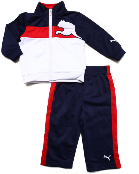 Puma Boys Red 2 Pc Tricot Set (Infant)