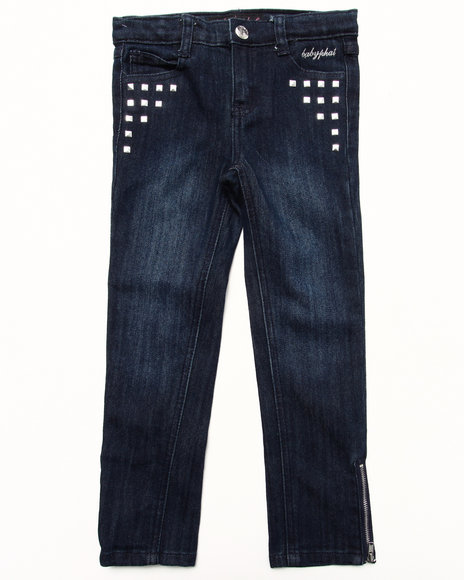 Baby Phat - Girls Dark Wash Studded Denim Pant (4-6X)
