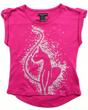 Girls - S/S GLITTER KITTY TEE (4-6X)