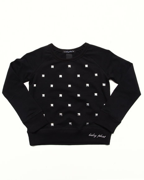 Baby Phat - Girls Black Studded Pullover (4-6X) - $28.99