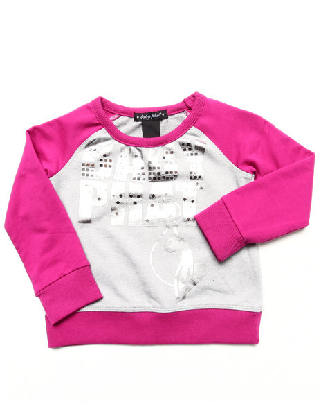 Baby Phat - Girls Dark Pink Color Block Pullover (2T-4T)