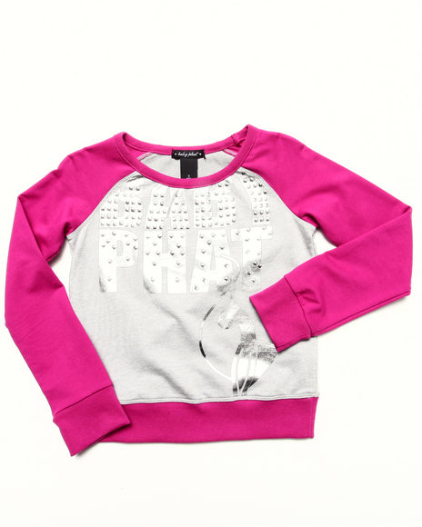 Baby Phat - Girls Dark Pink Color Block Pullover (7-16)