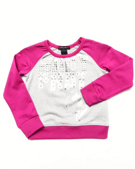 Baby Phat - Girls Dark Pink Color Block Pullover (4-6X)