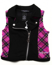 Outerwear - PLAID MOTO VEST (2T-4T)