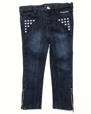 Bottoms - STUDDED DENIM PANT (2T-4T)