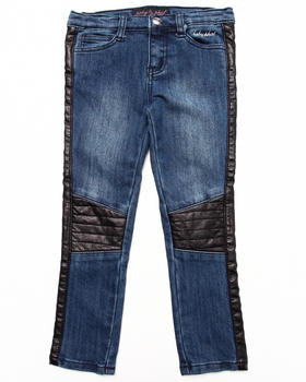 Baby Phat - JEANS W/ TWILL PIECING (4-6X)